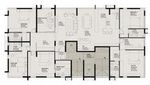 1st floor plan - Single suite