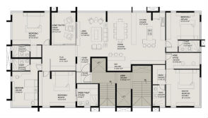 1st floor plan - Single suite