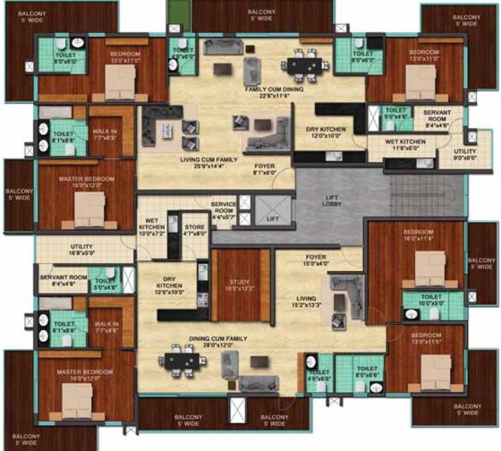 Sky Villa 4th flr plan