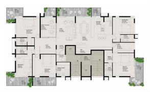 Typical floor plan - Single suite