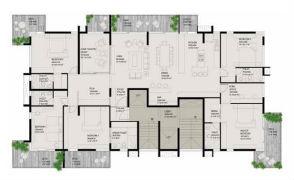 Typical floor plan - Single suite